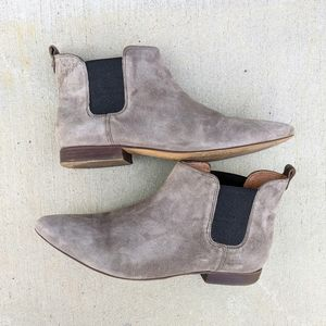 Madewell Shoes - Madewell Nico Taupe Suede Chelsea Boots